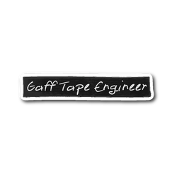 Gaff Tape Engineer Sticker