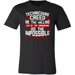 Technicians' Creed Short Sleeve T-Shirt