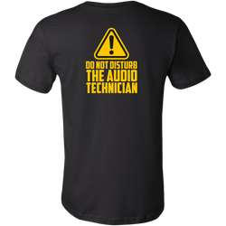 Do Not Disturb The Audio Technician Short Sleeve T-Shirt