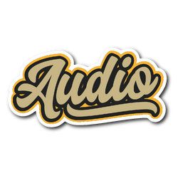 """Audio"" Baseball Style Sticker"