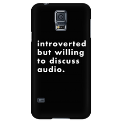 Introverted But Willing To Discuss Audio iPhone Android Cell Phone Case
