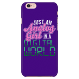 Just An Analog Girl In A Digital World iPhone Android Cell Phone Case