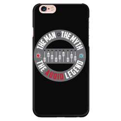 The Man, The Myth, The Audio Legend Apple iPhone Case