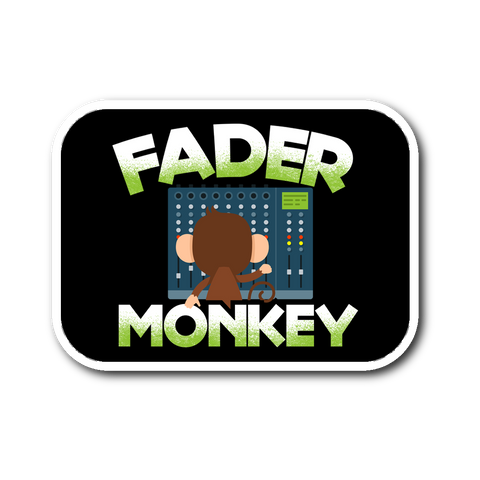 Fader Monkey Sticker