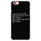 Sound Check Script Apple iPhone Case