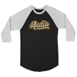 """Audio"" Raglan Baseball Three-Quarter Sleeve Shirt"