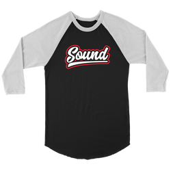 """Sound"" Raglan Baseball Three-Quarter Sleeve Shirt"
