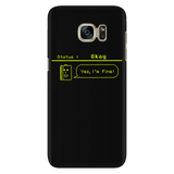 Status: Okay - Digital Console Battery Indicator iPhone Android Cell Phone Case