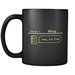 Status: Okay - Digital Console Battery Indicator Coffee Mug