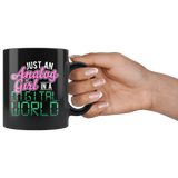 Just An Analog Girl In A Digital World Coffee Mug