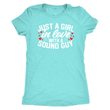 Just A Girl In Love With A Sound Guy Triblend Short Sleeve T-Shirt