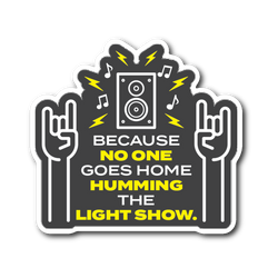 Humming The Light Show Sticker