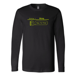 Status: Okay - Digital Console Battery Indicator Long Sleeve Shirt