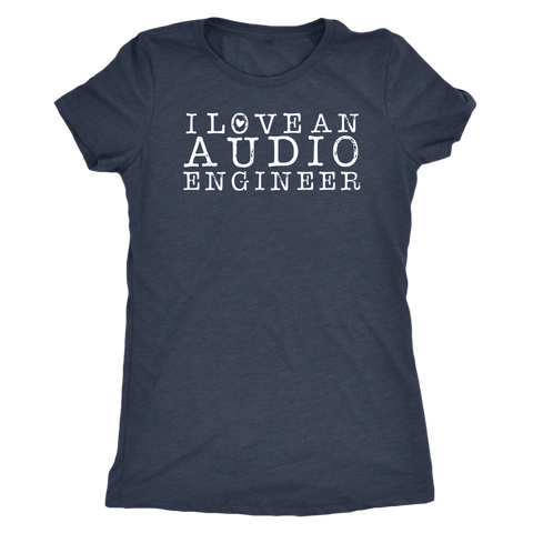 I Love An Audio Engineer Short Sleeve T-Shirt