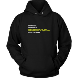 Sonic Manipulator and Vice Overlord of Vibration (Sound Girl) Hoodie