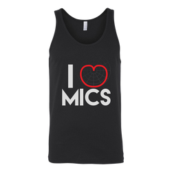 I (Cardioid) Heart Mics Tank Top