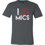 I (Cardioid) Heart Mics Short Sleeve T-Shirt