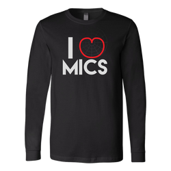 I (Cardioid) Heart Mics Long Sleeve Shirt
