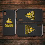 Caution: Ear Protection Required iPhone Cell Phone Case