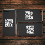 Sound Nerds Rule iPhone Cell Phone Case