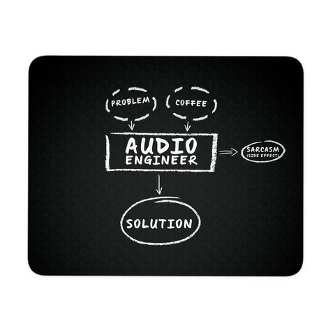 Audio Engineer Problem Coffee Sarcasm Mouse Pad