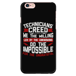 Technicians' Creed Apple iPhone Phone Case