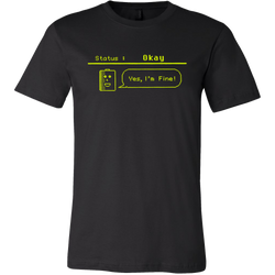 Status: Okay - Digital Console Battery Indicator Short Sleeve T-Shirt