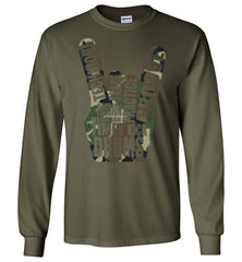 Camo-Drum Horns Drummer's Clothing Line (Tees, Tanks, and Long-Sleeves) - Spirit and Groove, LLC