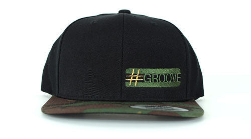 GROOVE Stripes™ – Camo Brim Drummer's Cap with Quarter Logo