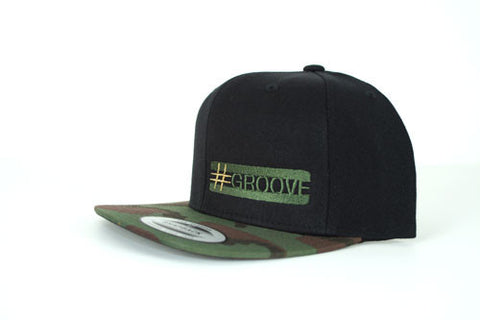 GROOVE Stripes™ – Camo Brim Drummer's Cap with Quarter Logo - Spirit and Groove, LLC