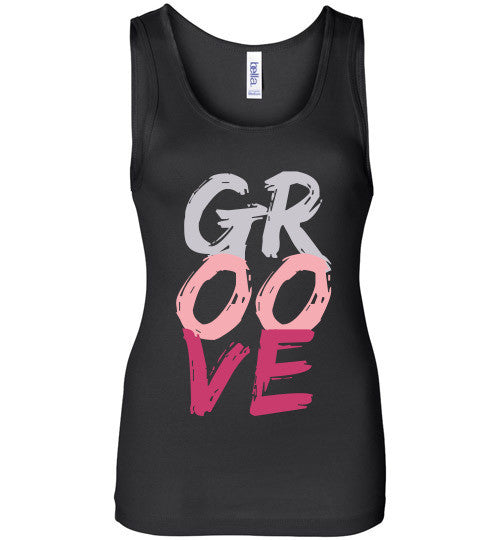 Black Groove Ladies Tank Top - Spirit and Groove, LLC