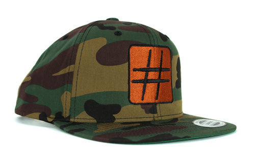 GROOVE Stripes™ – Camo and Copper Military-Inspired Drummer's Hat
