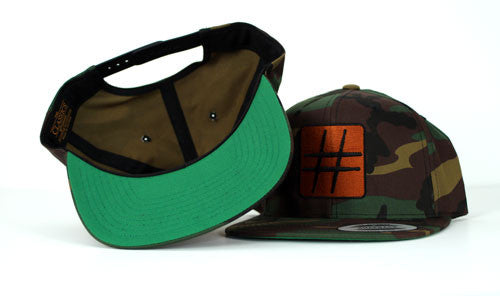 GROOVE Stripes™ – Camo and Copper Military-Inspired Drummer's Hat - Spirit and Groove, LLC