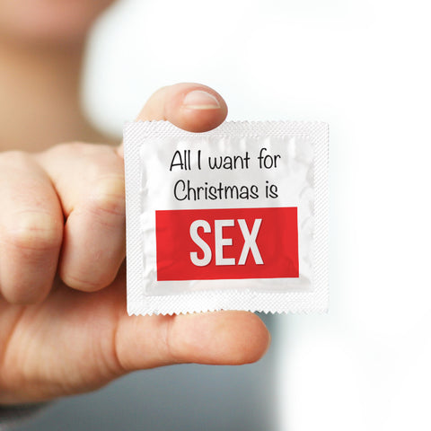 all i want for christmas is sex condom - Christmas Condoms