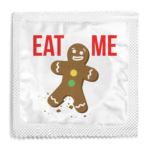Eat Me Gingerbread Man Condom - 10 Condoms