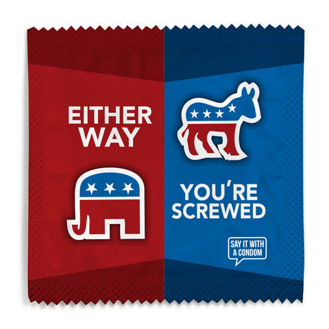 Either Way You're Screwed Condom - 10 Condoms