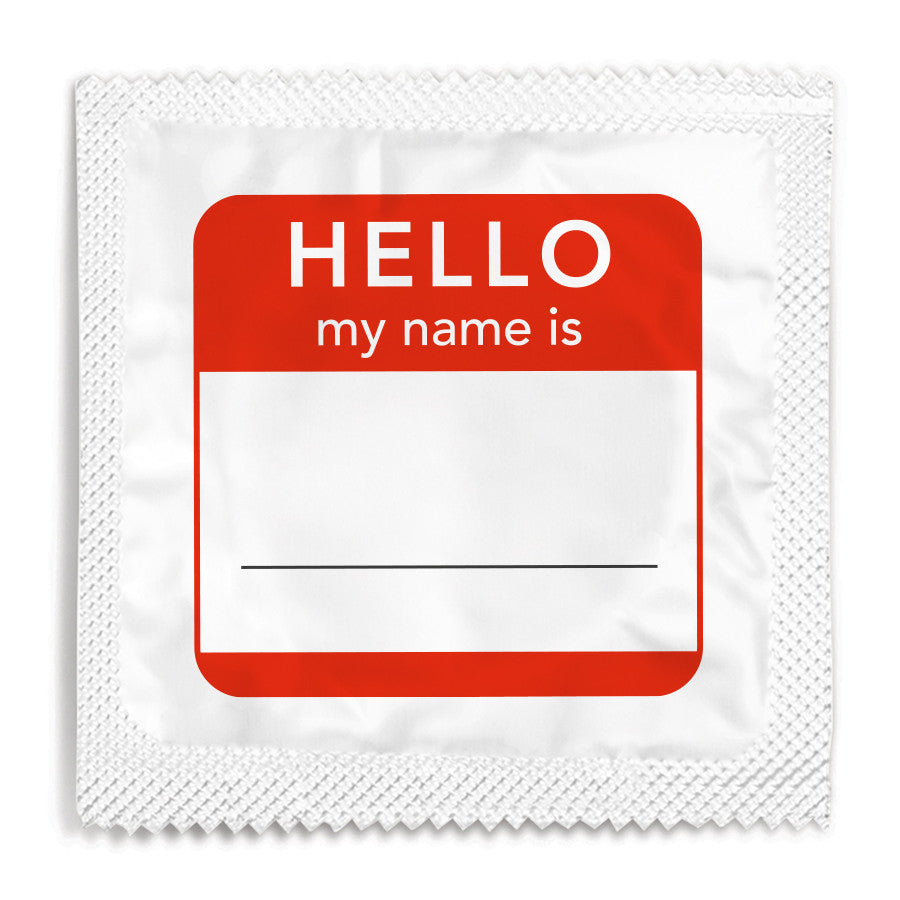 Hello My Name Is Condom - 10 Condoms