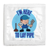 I'm Here To Lay Pipe Condom - 10 Condoms