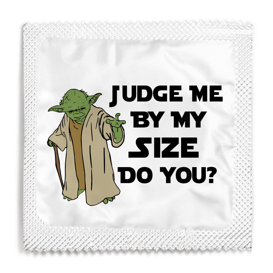 Judge Me By My Size Do You Condom  Funny Condoms-1550
