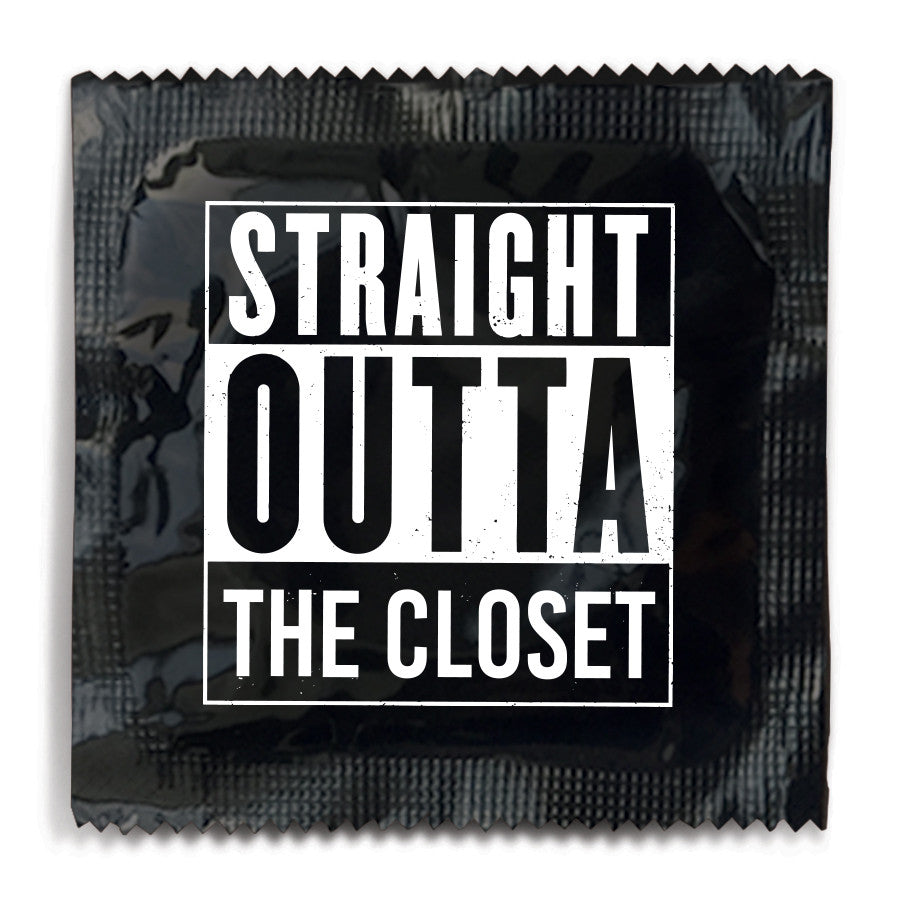 Straight Outta The Closet Condom - 10 Condoms