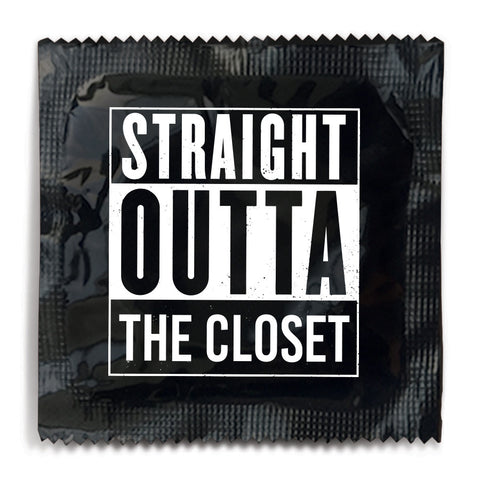 Straight Outta The Closet Condom