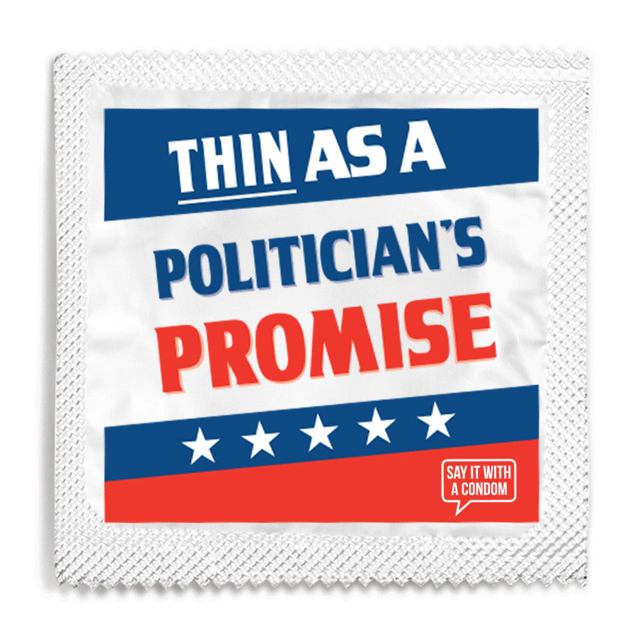 Thin As A Politican's Promise Condom - 10 Condoms