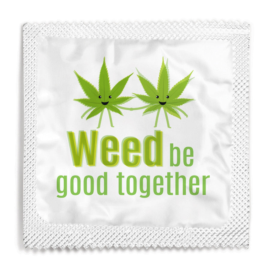 Weed Be Good Together Condom - 10 Condoms