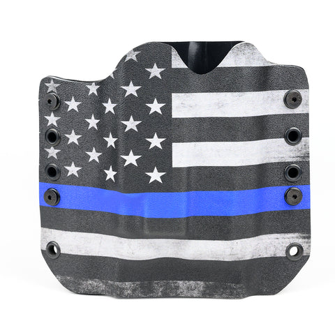 OWB Light Bearing Holster - USA Blue Line