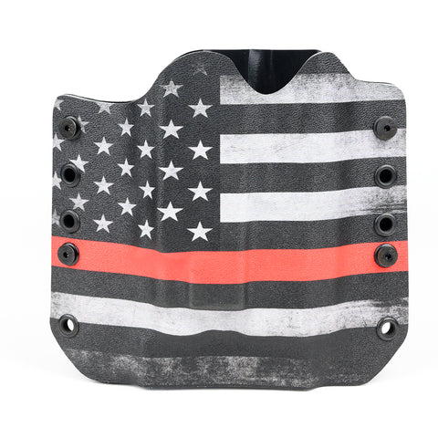 OWB Light Bearing Holster - USA Thin Red Line