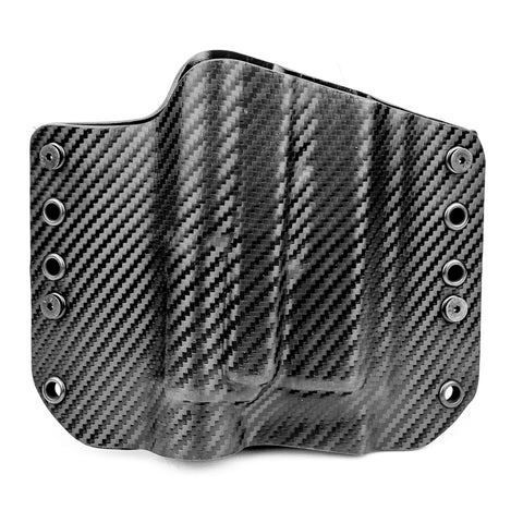 OWB Light Bearing Holster - Black Carbon Fiber