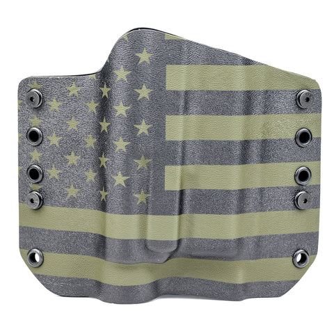 OWB Light Bearing Holster - USA OD Green & Black