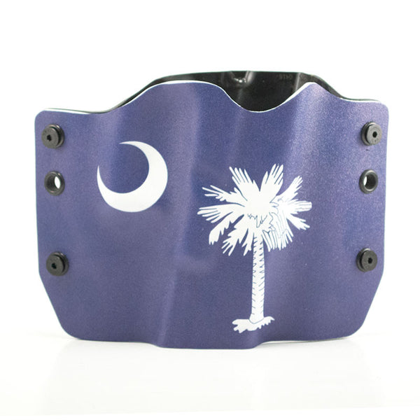 Holster with blue South Carolina Flag image on front