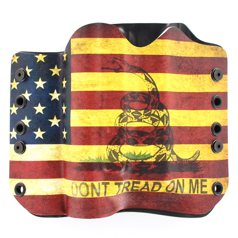OWB Light Bearing Holster - Don't Tread USA Flag