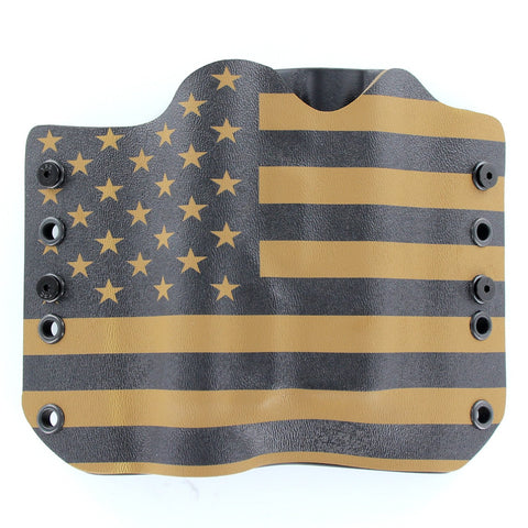 OWB Light Bearing Holster - USA Coyote & Black